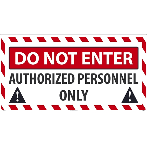 Do Not Enter Authorized Personnel Only (WF01SW)