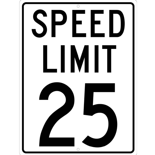 Speed Limit 25 Sign (TM21K)
