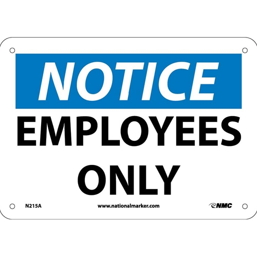 Notice Employees Only Sign (N215A)