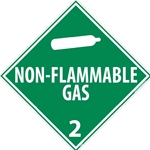 Non-Flammable Gas 2 Dot Placard Sign (DL6P)
