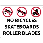 No Bicycles Skateboards Roller Blades Sign (M106AC)