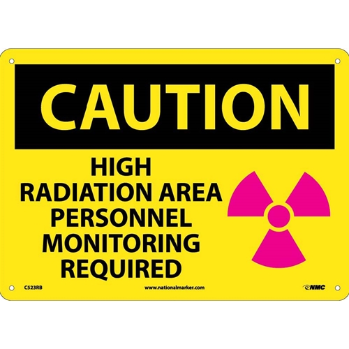 Caution High Radiation Area Sign (C523RB)