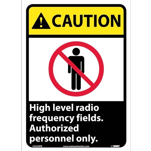 Caution High Level Radio Frequency Fields Sign (CGA29PB)