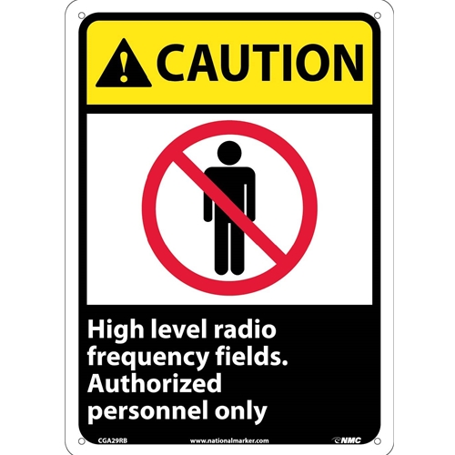 Caution High Level Radio Frequency Fields Sign (CGA29RB)
