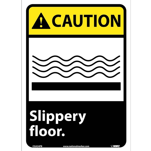 Caution Slippery Floor Sign (CGA34PB)