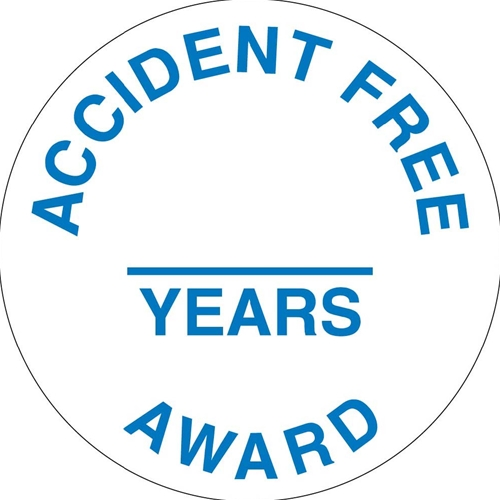 Accident Free & Years Award Hart Hat Emblem (HH111)