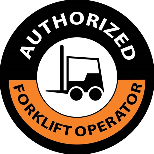Authorized Forklift Operator Label (HH63)