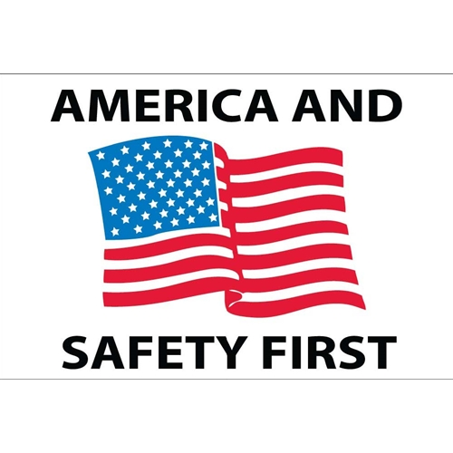America And Safety First Hard Hat Emblem (HH90)