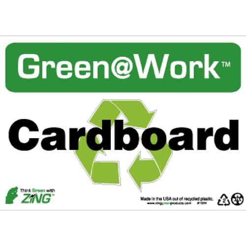 Green Work Cardboard Sign (GW1024)