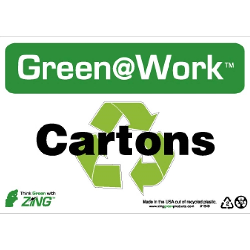 Green Work Cartons Sign (GW1049)