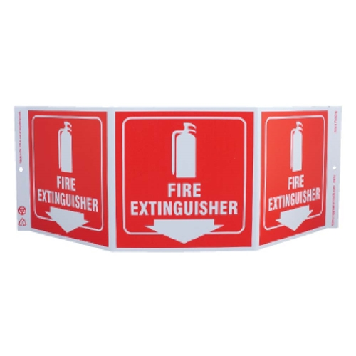 Green Work Fire Extinguisher Sign (GW3052)