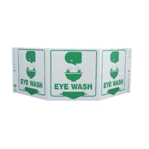 Green Work Eye Wash Sign (GW3054)