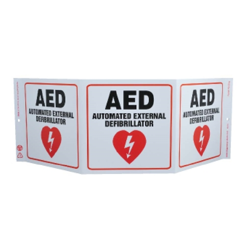 Green Work Aed Sign (GW3055)