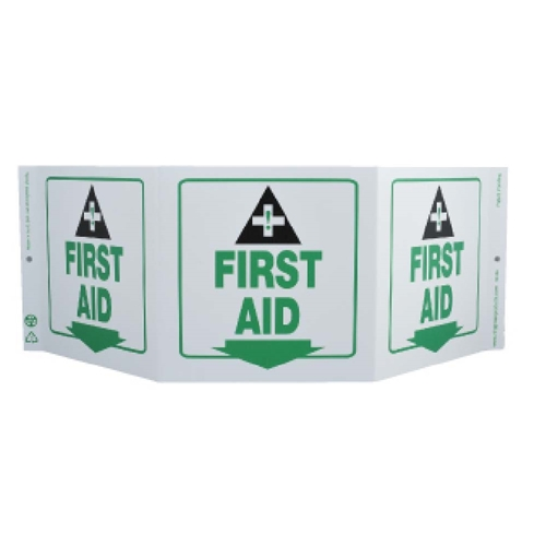 Green Work First Aid Sign (GW3056)