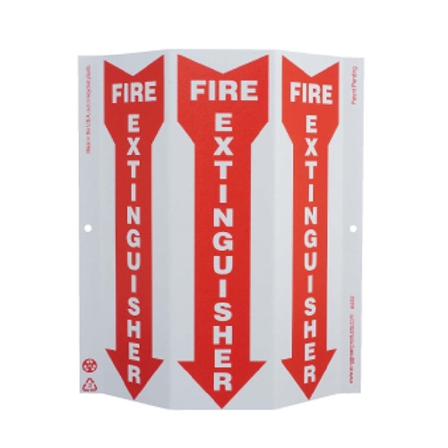 Green Work Fire Extinguisher Sign (GW4052)