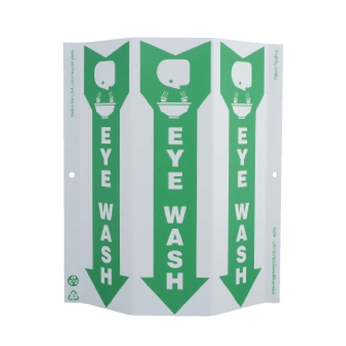 Green Work Eye Wash Sign (GW4054)