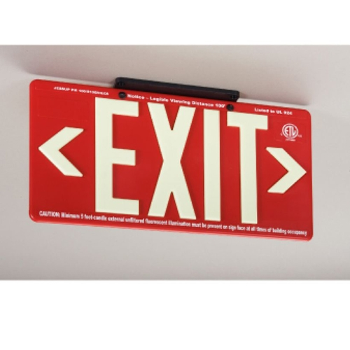 100Ft Red Exit Sign (7072B)