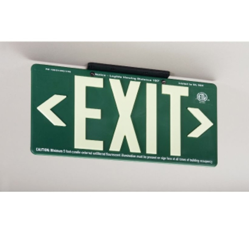 100Ft Green Exit Sign (7082B)