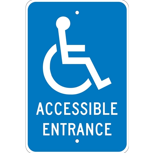Accessible Entrance Sign (TM149J)