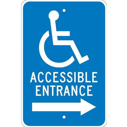 Accessible Entrance Sign (TM151J)