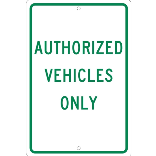 Authorized Vehicles Only Sign (TM48H)