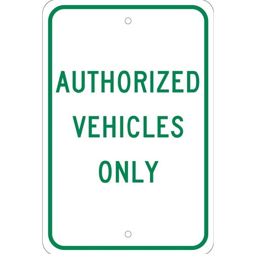 Authorized Vehicles Only Sign (TM48J)
