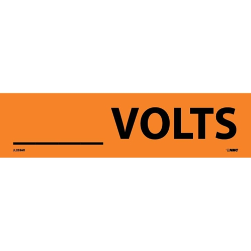 ___Volts Electrical Marker (JL2036O)