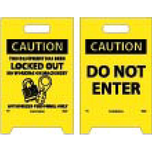 Caution Do Not Enter Double-Sided Floor Sign (FS13)