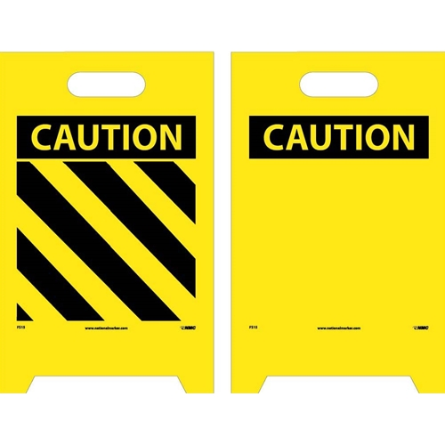 Caution Double-Sided Floor Sign (FS15)
