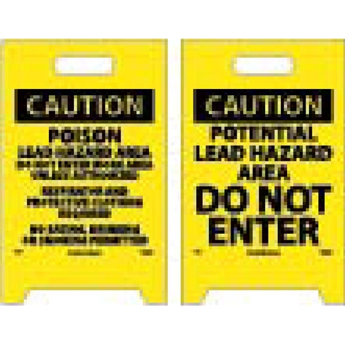 Caution Potential Lead Hazard Double-Sided Floor Sign (FS19)