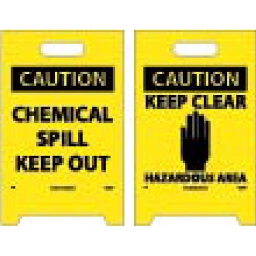 Caution Chemical Spill Out Double-Sided Floor Sign (FS5)