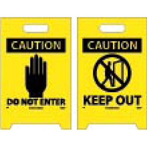 Caution Keep Out Double-Sided Floor Sign (FS8)