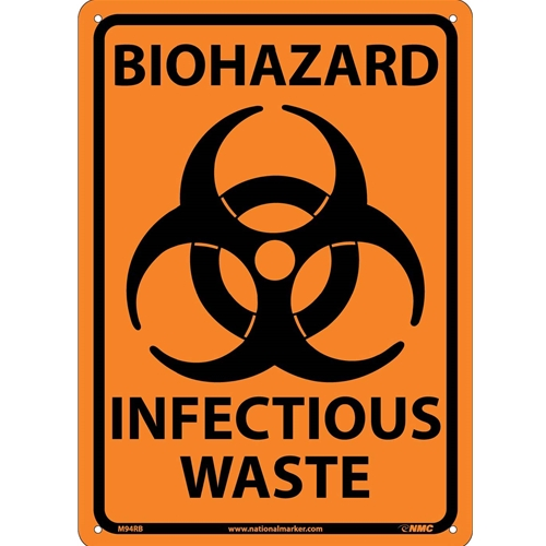 Biohazard Infectious Waste Sign (M94RB)