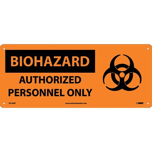 Biohazard Authorized Personnel Only Sign (SA165R)