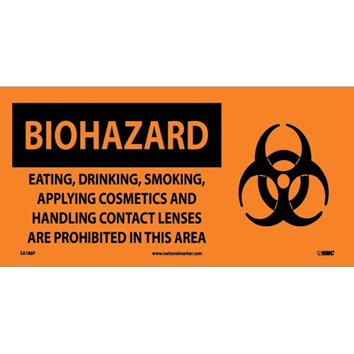 Biohazard Consumables Prohibited In Area Sign (SA186P)