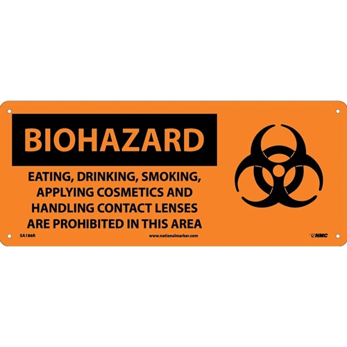 Biohazard Consumables Prohibited In Area Sign (SA186R)