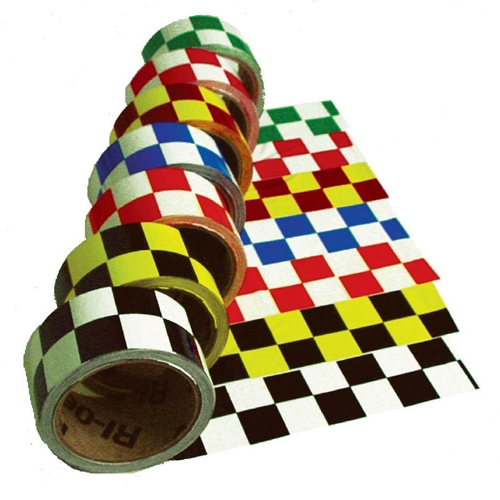 Checkerboard Safety Tape Blue/White (CBT20418)