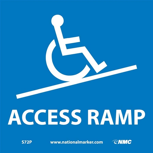 Ada Location Marker Access Ramp Sign (S72P)