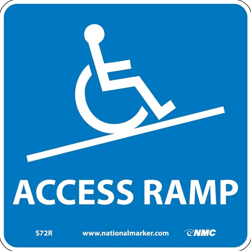 Ada Location Marker Access Ramp Sign (S72R)