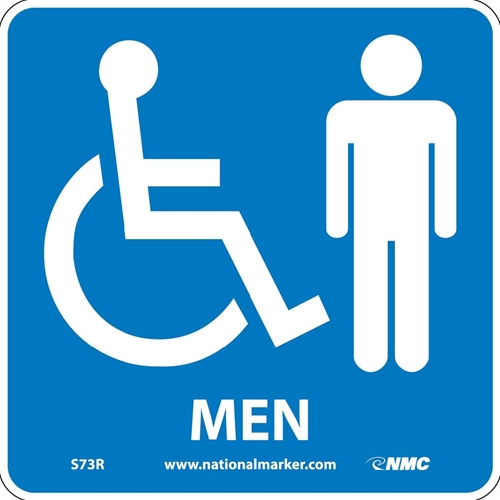 Ada Location Marker Men Sign (S73R)