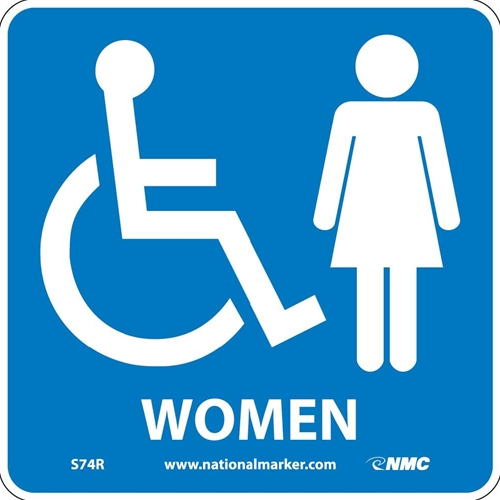 Ada Location Marker Women Sign (S74R)
