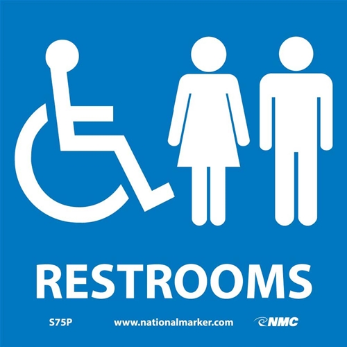 Ada Location Marker Restrooms Sign (S75P)