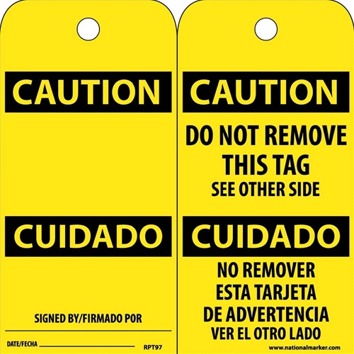 Caution Bilingual Tag (RPT97)